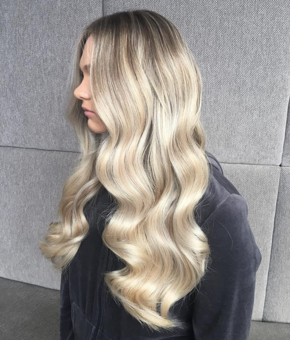 Top 30 Long Blonde Hair Ideas Of 2018 Within Long Blonde Pixie Haircuts With Root Fade (View 16 of 20)