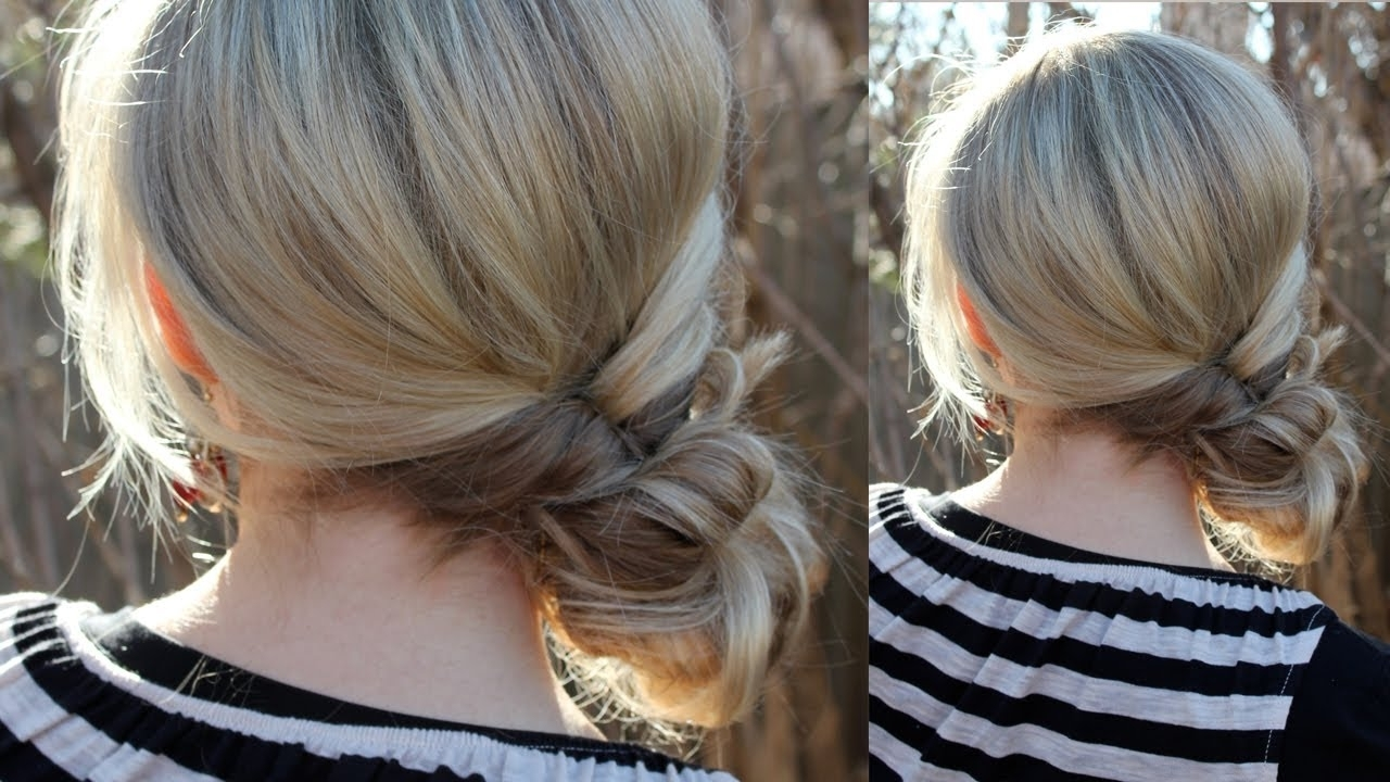 Topsy Tail Messy Bun – Youtube In Most Current Topsy Tail Low Ponytails (View 19 of 20)