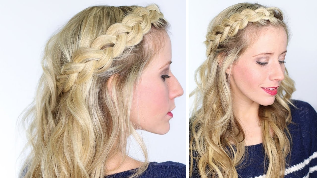 Trendy Braided Crown Ponytails For Round Faces Throughout How To: Soft Dutch Braid – Youtube (View 10 of 20)