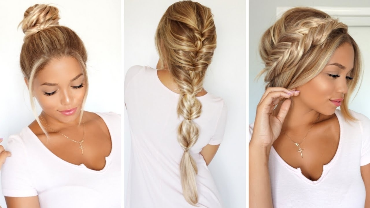 Trendy Fishtail Ponytails With Hair Extensions Throughout 3 Different Ways To Rock A Fishtail Braid Ft (View 15 of 20)