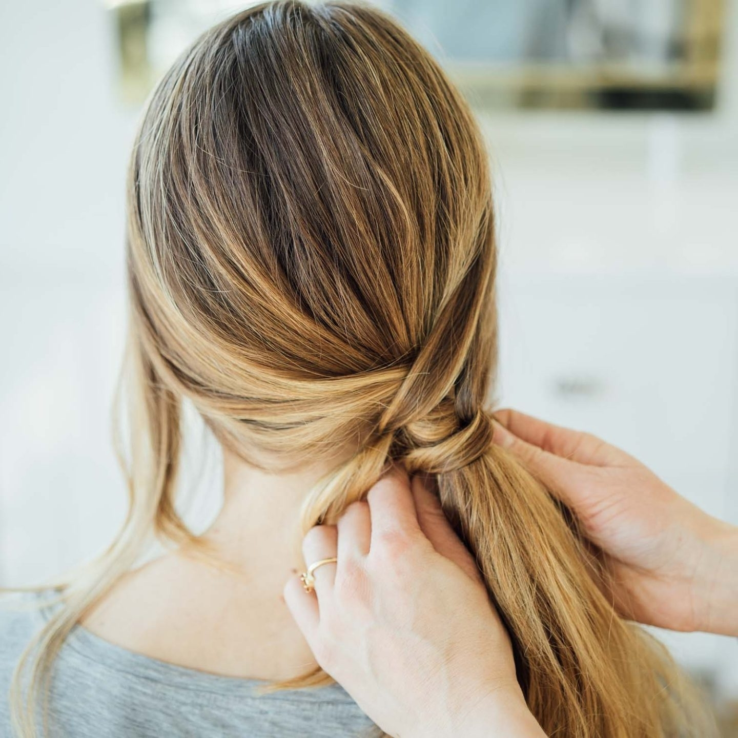 Trendy Messy Braid Ponytail Hairstyles With This Messy Braid Wrap Ponytail Is Absolutely Gorgeous – Aol Lifestyle (View 16 of 20)