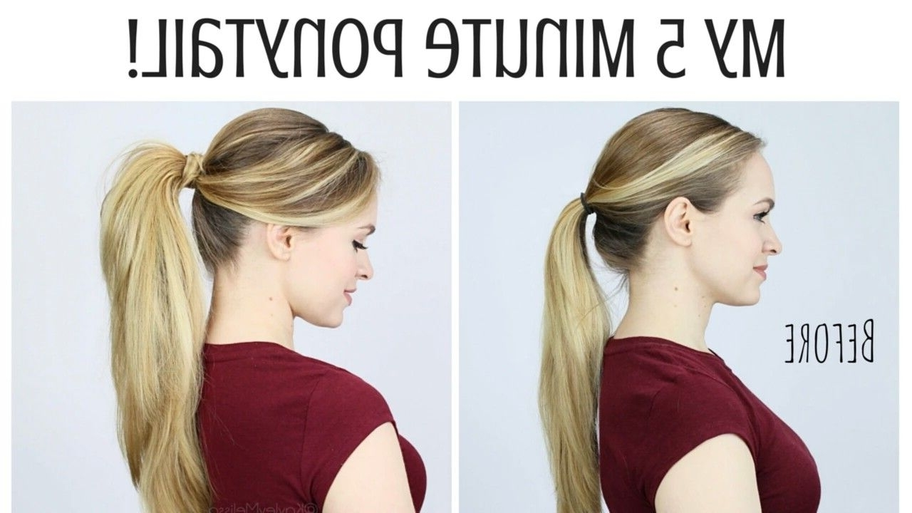 Trendy Pumped Up Side Pony Hairstyles In Professional Pumped Up Ponytail In 5Mins! #howto #hair #updo (View 18 of 20)