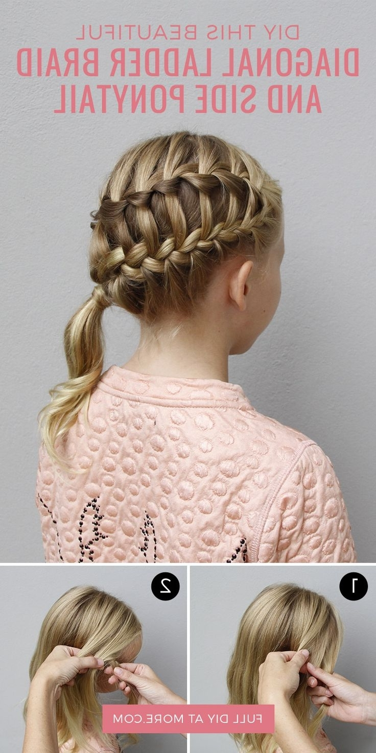 Try This Hairstyle: Diagonal Ladder Braid Into A Side Ponytail Intended For Most Popular Diagonally Braided Ponytail Hairstyles (View 18 of 20)