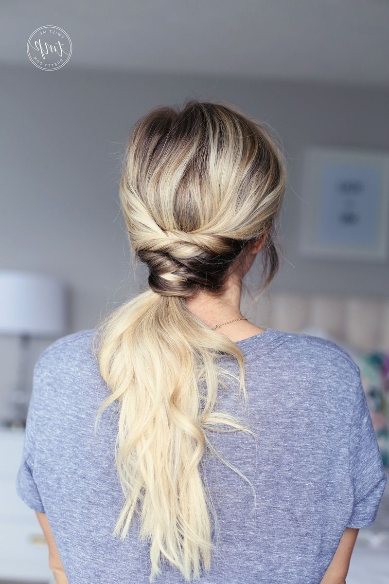 Featured Photo of Twisted And Pinned Blonde Ponytails