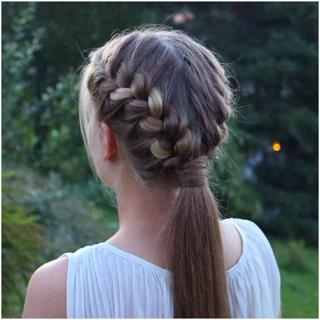 Two French Braids Into A Ponytail! #prettyhairstyleess In Most Recently Released Straight Triple Threat Ponytail Hairstyles (View 18 of 20)