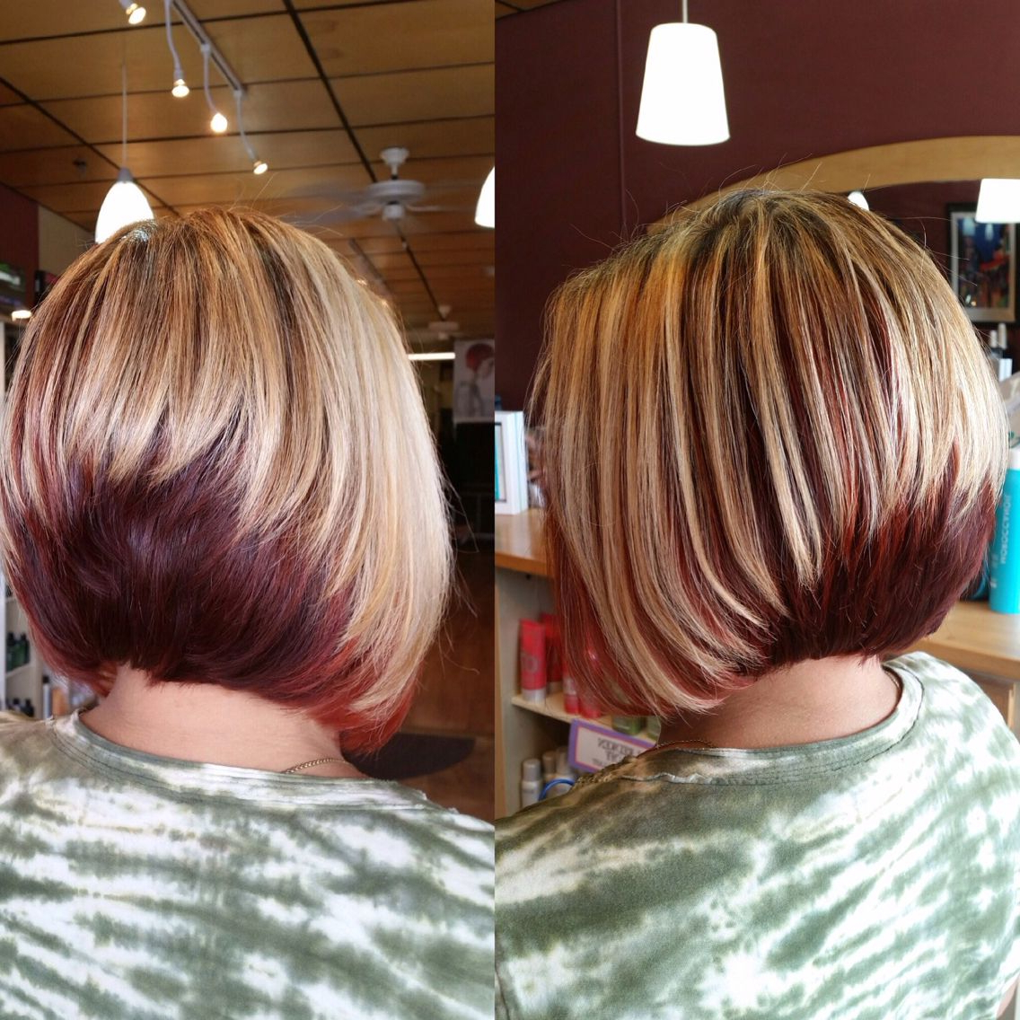 Two Tone Stack Bob | Hair Colour In 2018 | Pinterest | Hair Cuts Regarding Two Tone Stacked Pixie Bob Haircuts (View 19 of 20)
