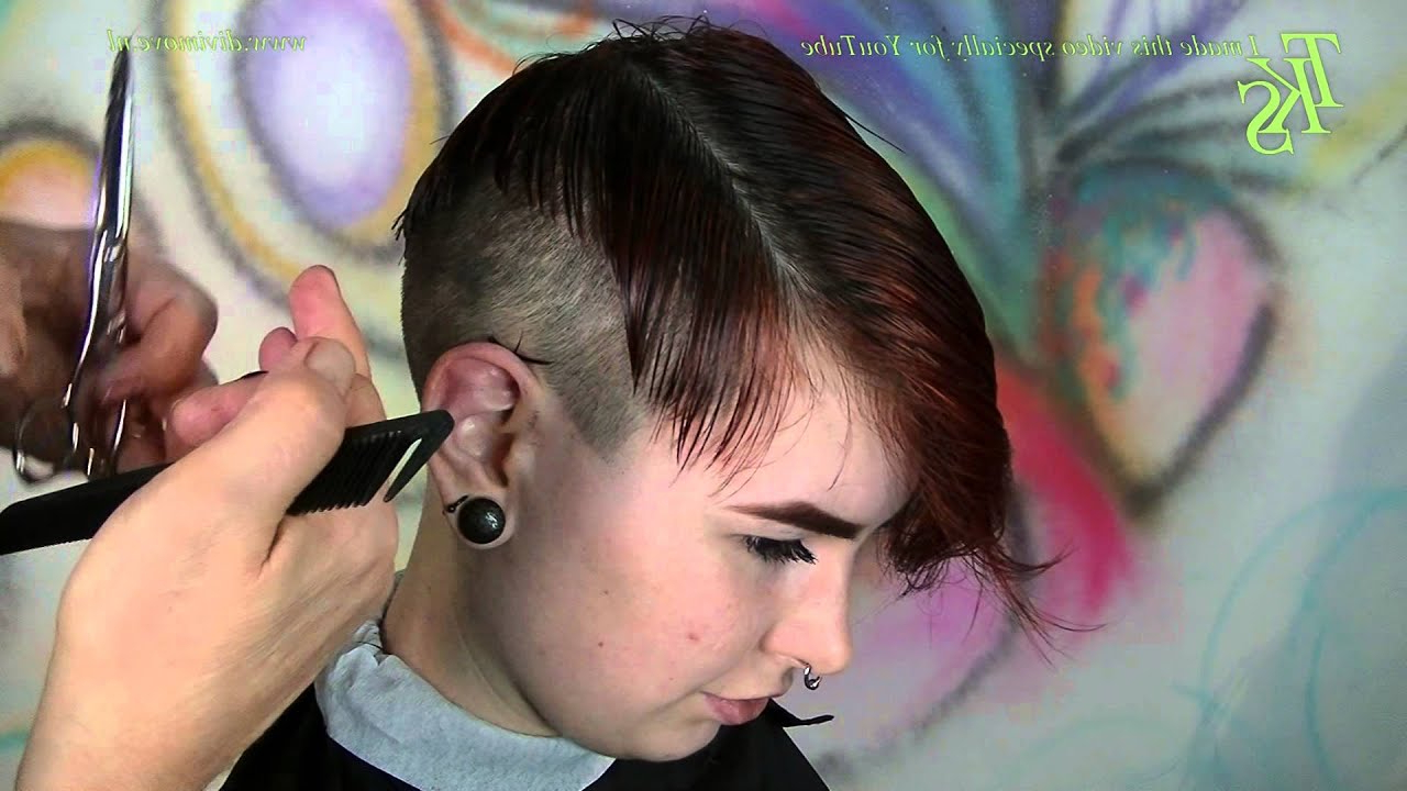 Ultra Short Disconnect Clipper Cut Sides With Tattoo Pixie Hairstyle For Disconnected Pixie Hairstyles For Short Hair (View 19 of 20)