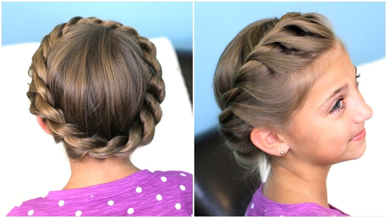 Updo Hairstyles – Youtube Intended For Newest Braided Crown Ponytails For Round Faces (View 4 of 20)