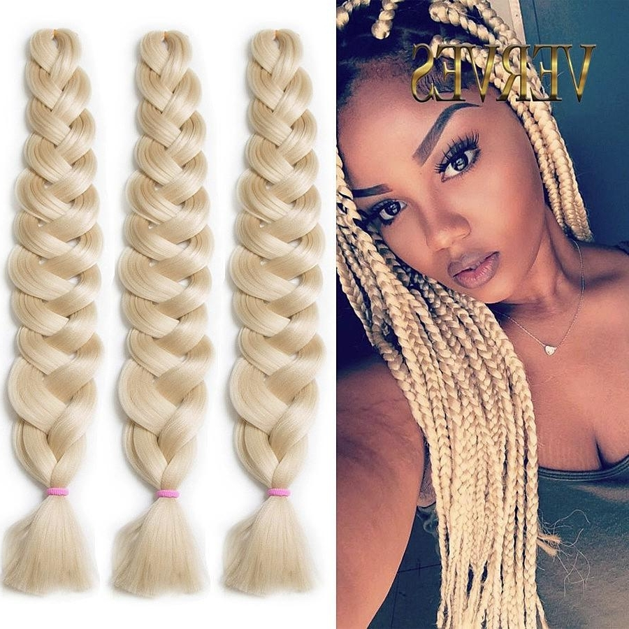 Verves Synthetic Braiding Hair Kanekalon 82 Inch 165G/pcs Jumbo For Well Known Multicolored Jumbo Braid Ponytail Hairstyles (Gallery 13 of 20)