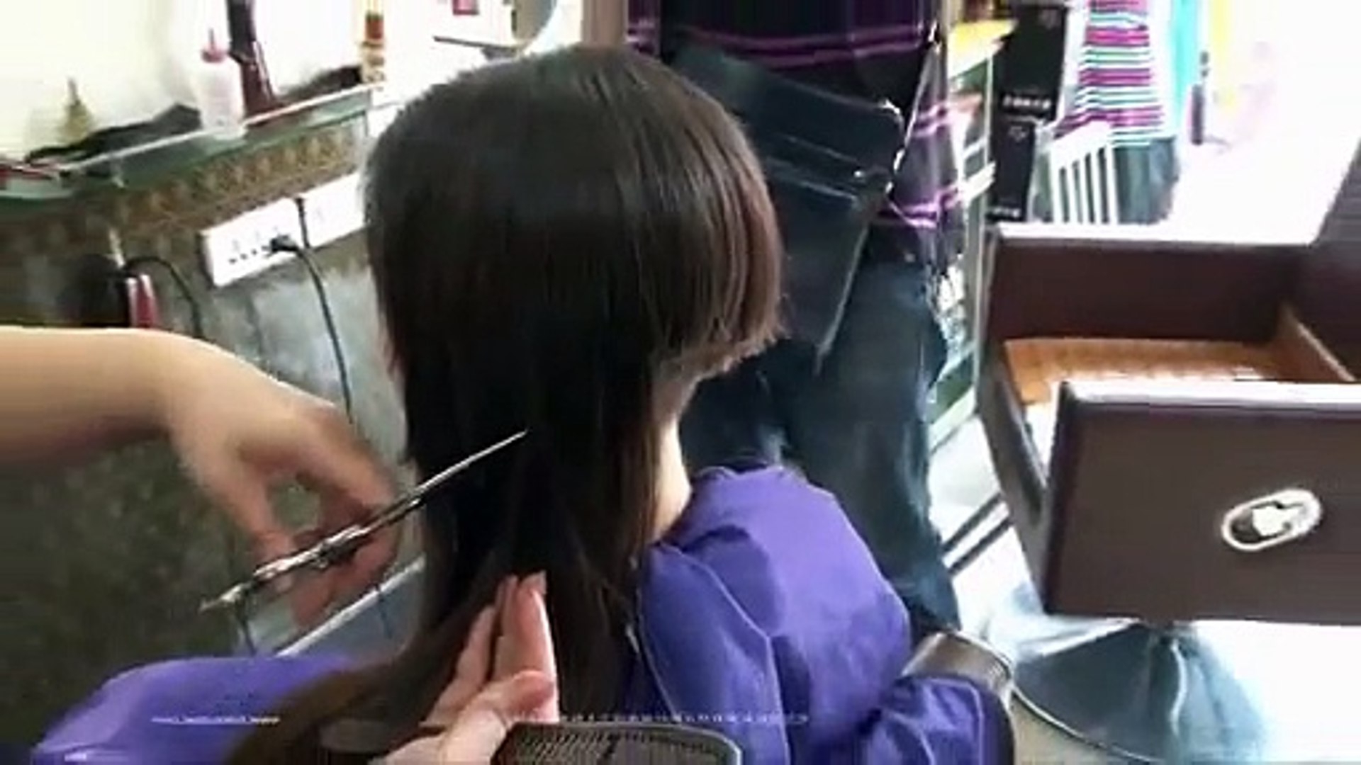 Very Long To Short Bob Shaved Nape Haircut Women – Video Dailymotion Within Layered Pixie Hairstyles With Nape Undercut (View 12 of 20)