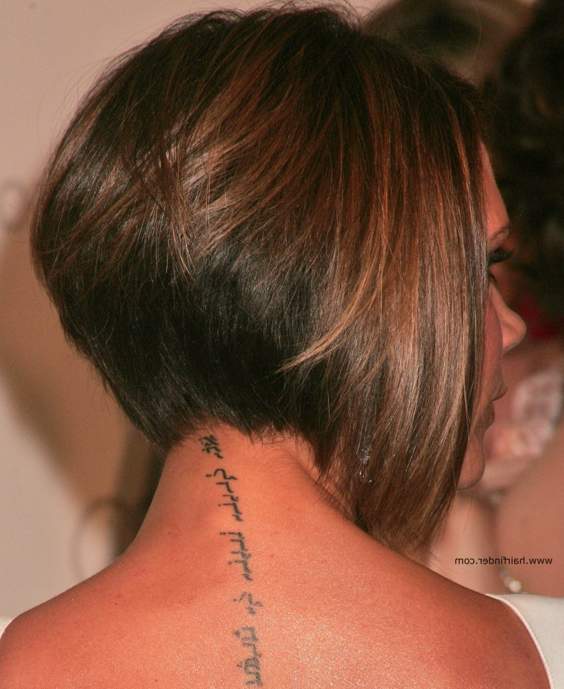 Victoria Beckham | Longer In The Front Bob With A Stacked Nape Intended For Short Bob Hairstyles With Tapered Back (View 19 of 20)