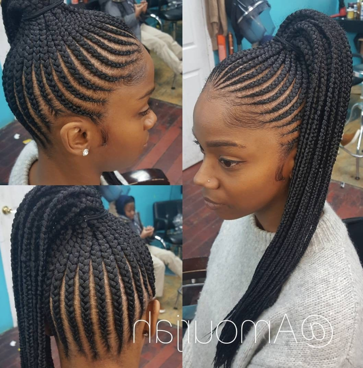 Well Known Braided Crown Ponytails For Round Faces Intended For Hair Color (View 7 of 20)