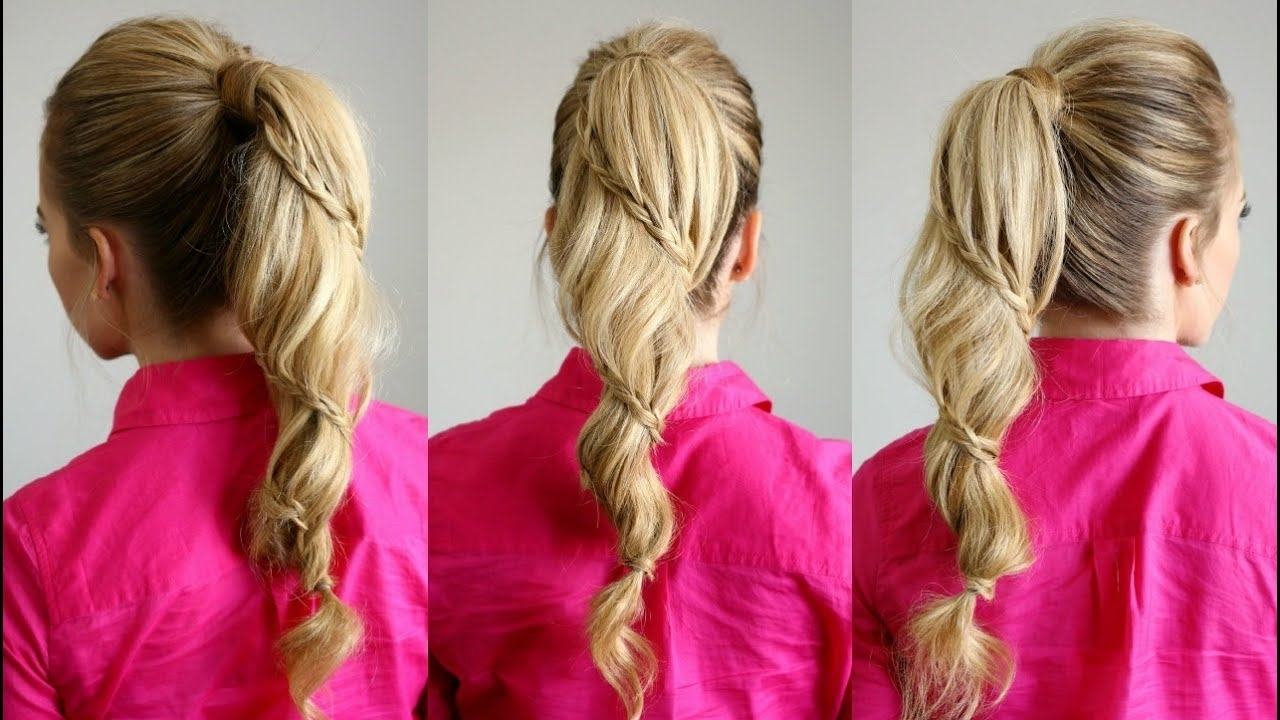 Well Known Cascading Braided Ponytails Inside Spiral Braided Ponytail (View 20 of 20)