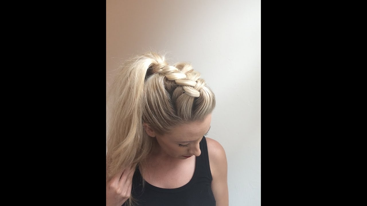 Well Known Faux Hawk Ponytail Hairstyles With Regard To Day 4 – Dutch Faux Hawk Braid W/ Ponytail – Youtube (View 3 of 20)