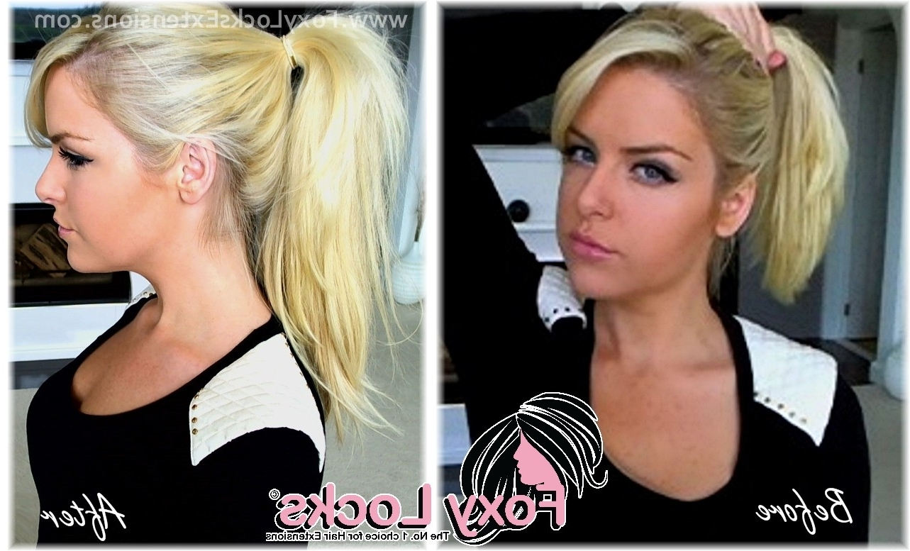 Well Known Fishtail Ponytails With Hair Extensions Pertaining To Imogen Foxy Locks: How To Put Your Hair Up (Ponytail) Using Clip In (View 19 of 20)