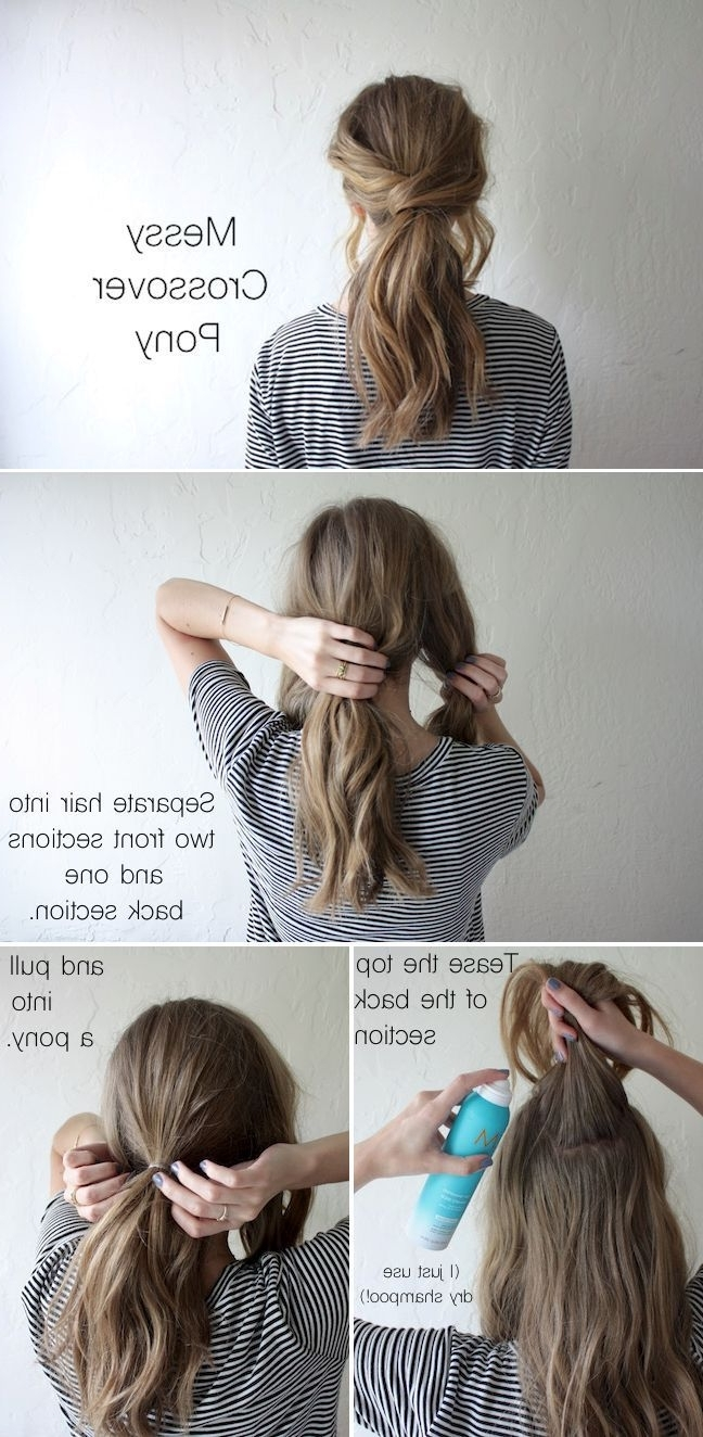 Well Known Messy Blonde Ponytails With Faux Pompadour Throughout 20 Amazing Ponytail Hair Tutorials For Beginners (View 9 of 20)