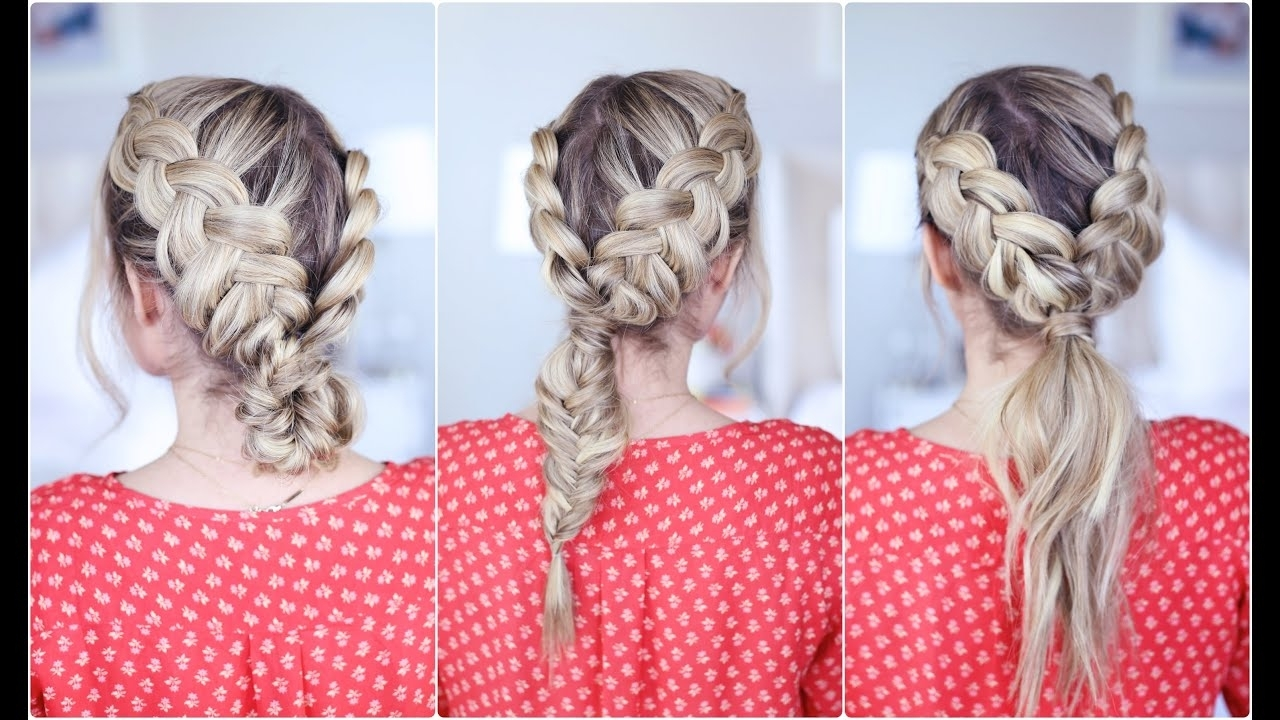 Well Known Pony And Dutch Braid Combo Hairstyles With Regard To 3 In 1 Double Dutch Braids (View 19 of 20)