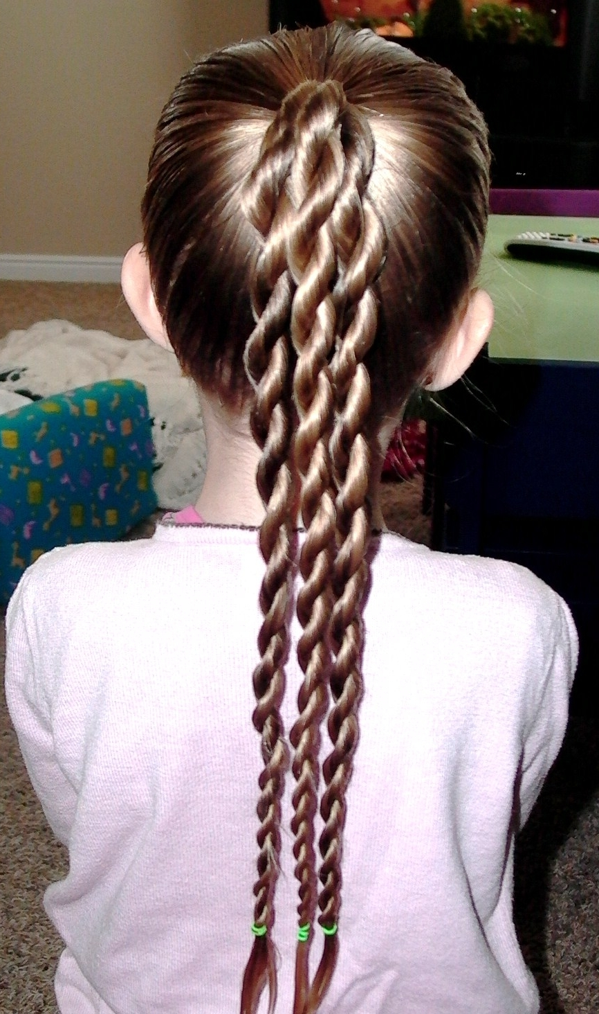 Well Known Triple Braid Ponytail Hairstyles Within Little Girl's Hairstyles: St (View 20 of 20)