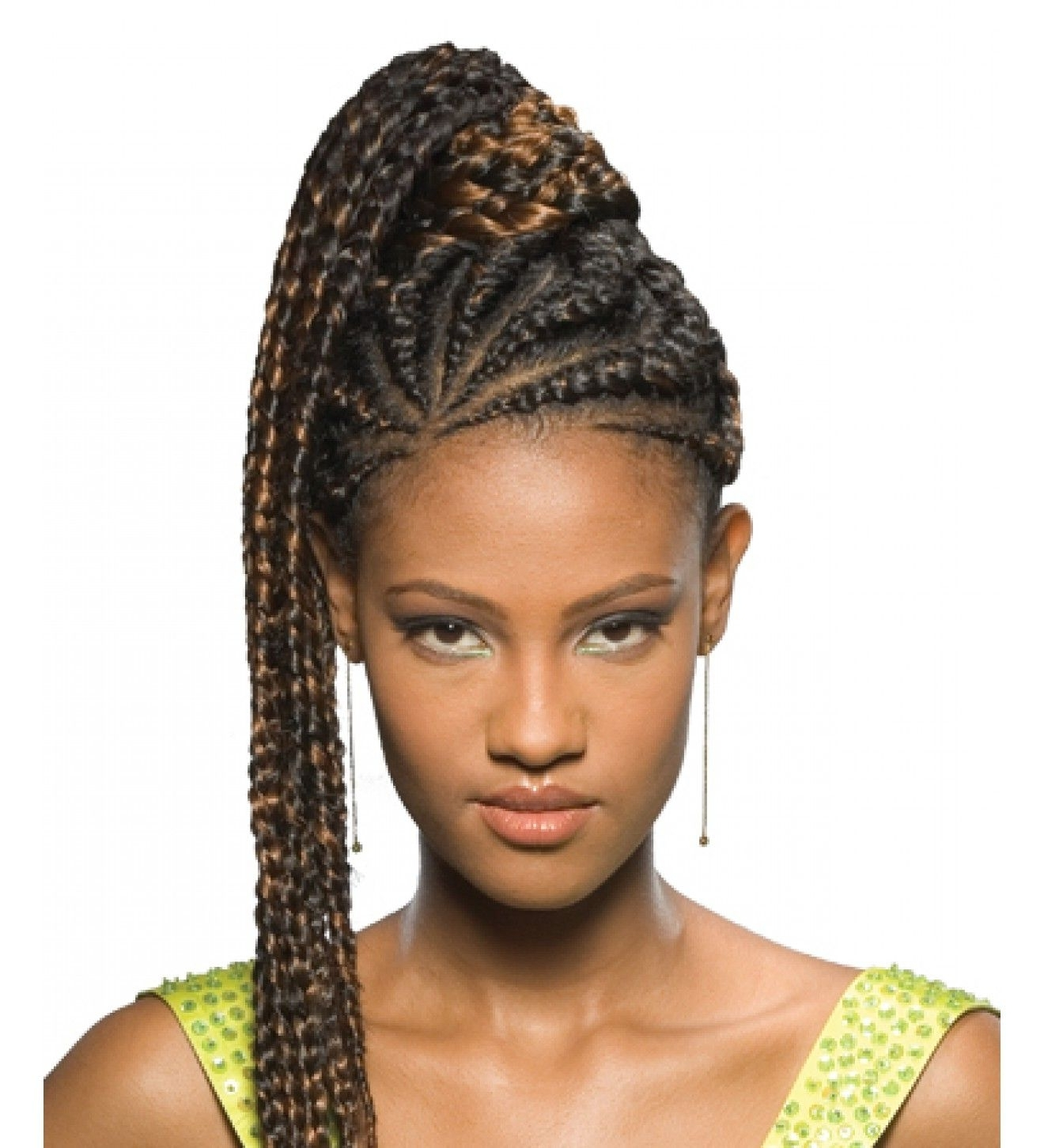Well Liked Fiercely Braided Ponytail Hairstyles Regarding Fake Braided Pony Tails For Black Women (View 17 of 20)