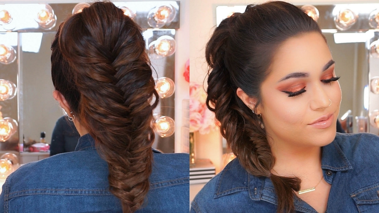 Well Liked Fishtail Ponytails With Hair Extensions Inside Fishtail Ponytail Braid Using Clip In Hair Extensions – Luxury For (View 20 of 20)