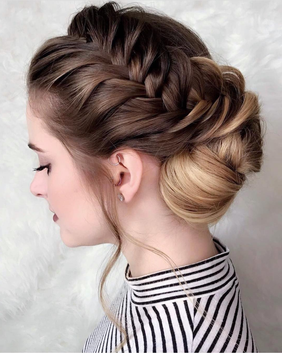 Well Liked Regal Braided Up Do Ponytail Hairstyles Regarding 10 New Prom Updo Hair Styles For 2018 – Gorgeously Creative New Looks (View 17 of 20)