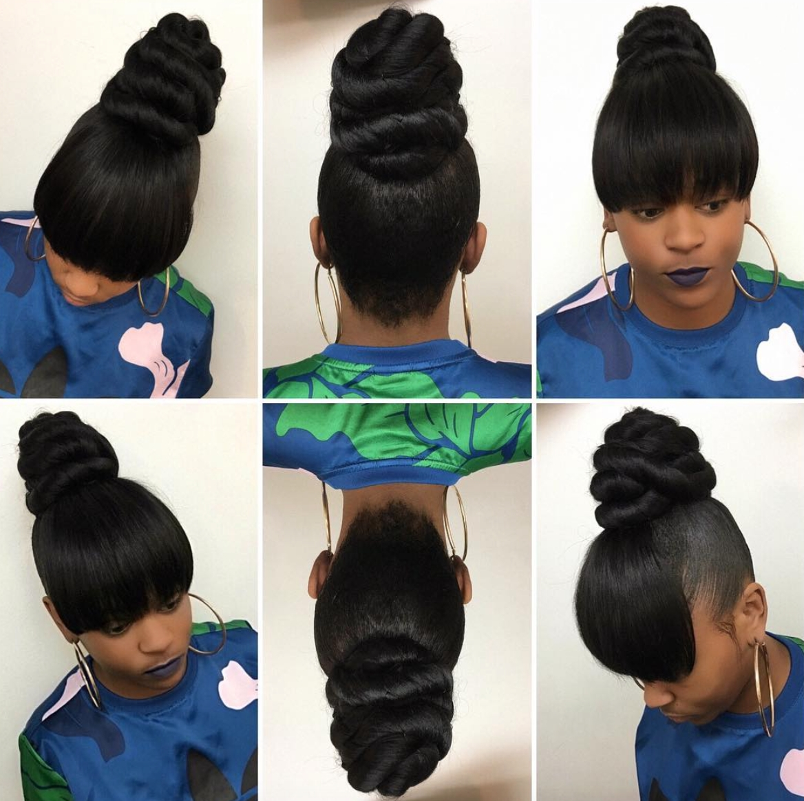 Well Liked Sculpted And Constructed Black Ponytail Hairstyles With Regard To Pinblack Hair Information – Coils Media Ltd On Updos (View 7 of 20)