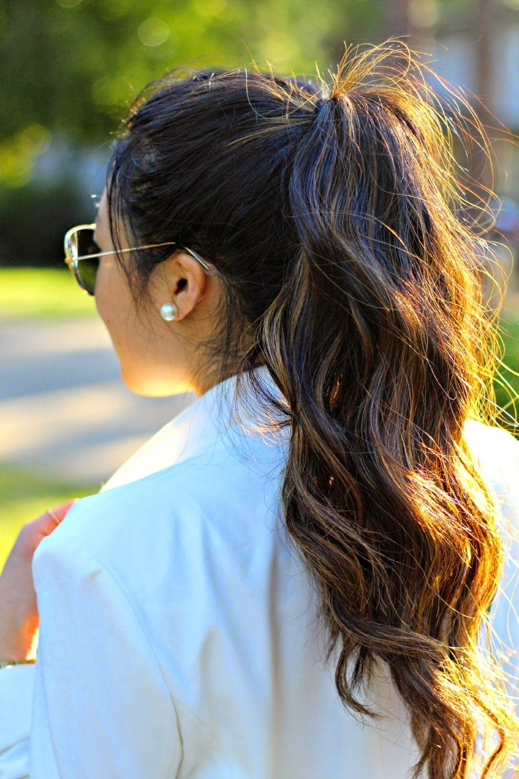 Widely Used Charmingly Soft Ponytail Hairstyles Regarding White Out (View 20 of 20)