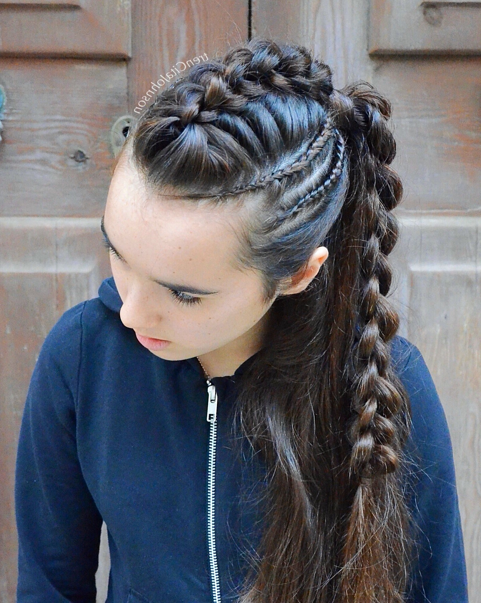 Widely Used Fantastical French Braid Ponytail Hairstyles With Regard To Ponytail With 3D Round Braid (View 20 of 20)