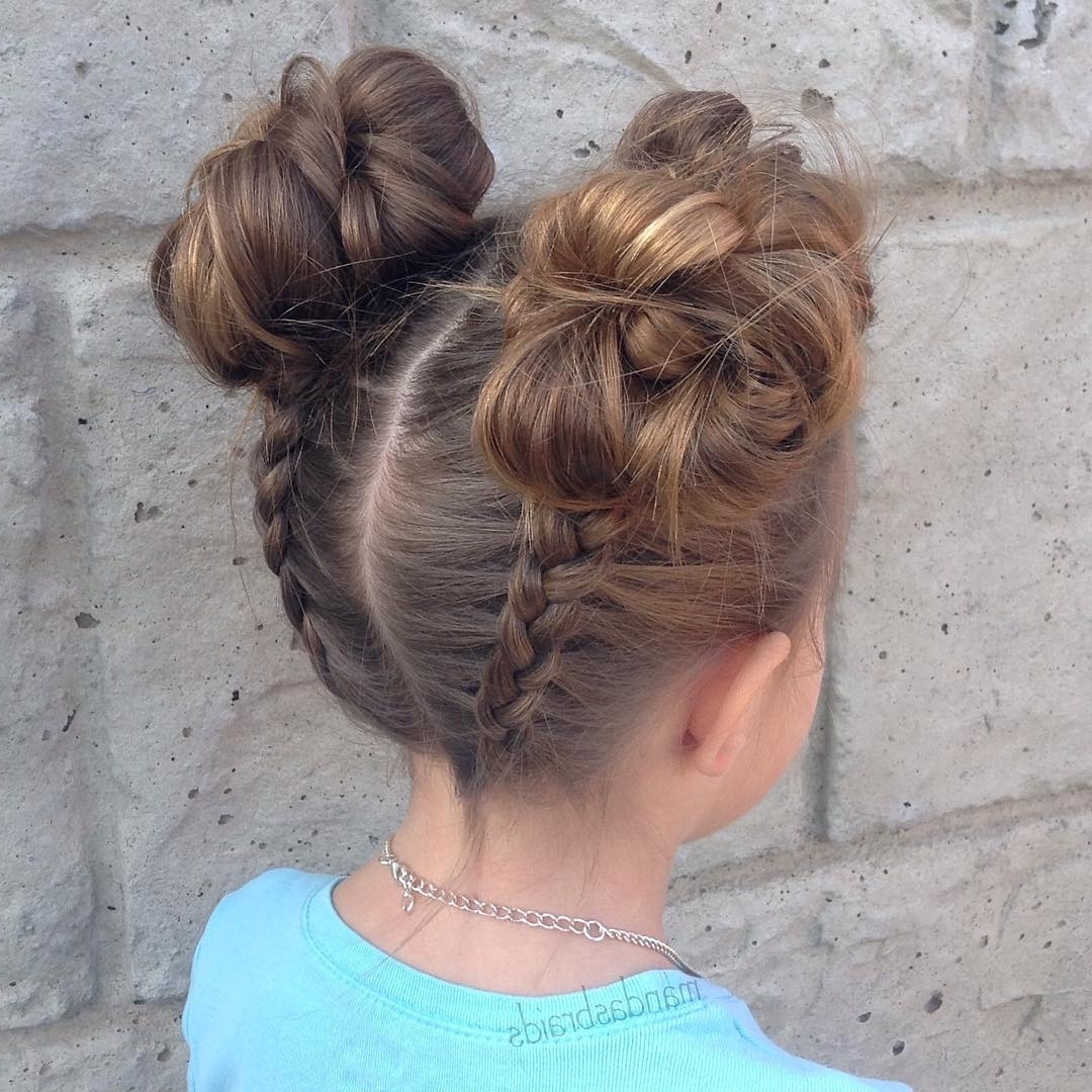 Widely Used Unique Braided Up Do Ponytail Hairstyles With Regard To 40 Cool Hairstyles For Little Girls On Any Occasion (View 18 of 20)