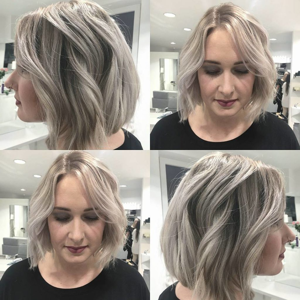 Women's Chic Wavy Blunt Bob With Platinum Blonde And Ash Coloring Pertaining To Ash Blonde Bob Hairstyles With Feathered Layers (View 20 of 20)