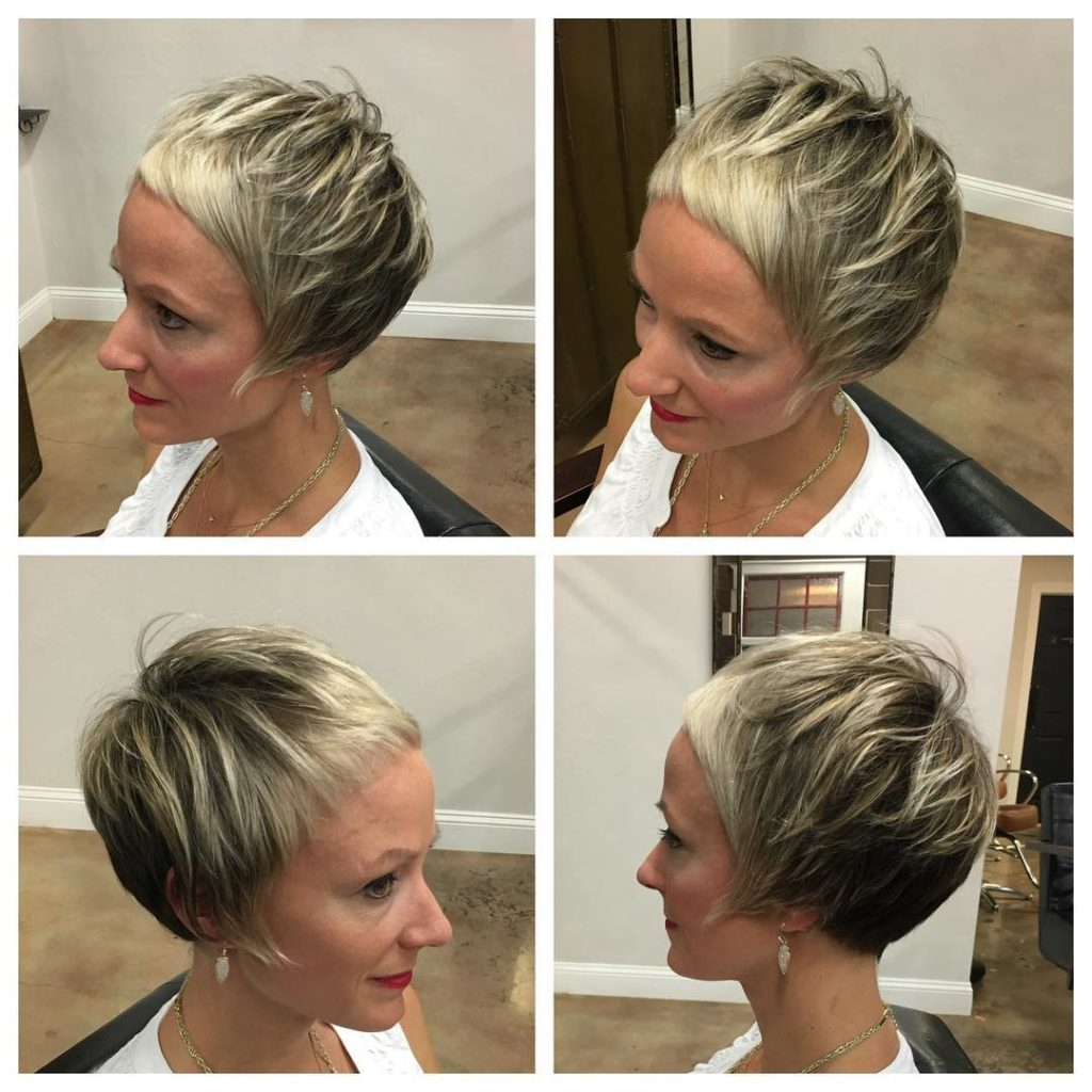 Women's Disheveled Bowl Cut Pixie With Fringe And Micro Bangs On Inside Disheveled Blonde Pixie Haircuts With Elongated Bangs (View 20 of 20)
