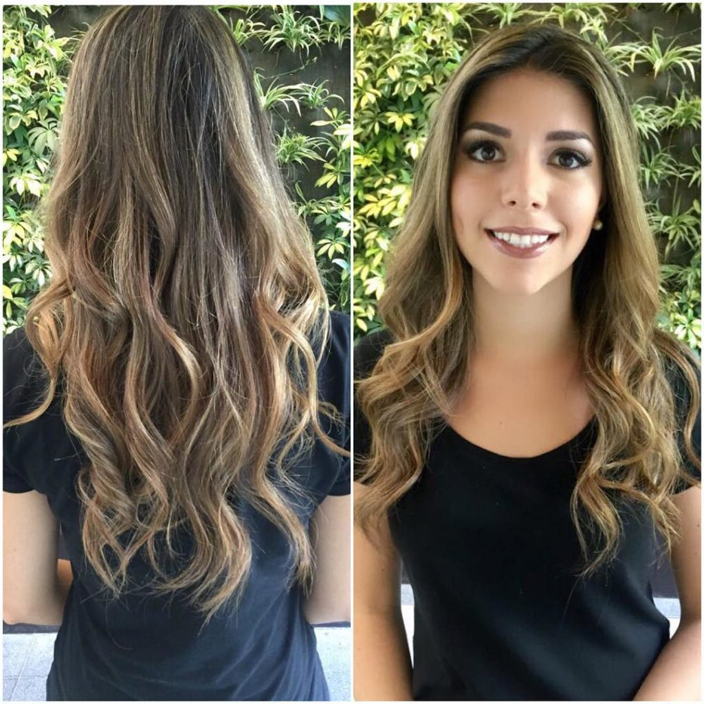Women's Longhair With Wavy Layers And Full Blonde Highlights On For Tousled Wavy Bronde Bob Hairstyles (View 20 of 20)