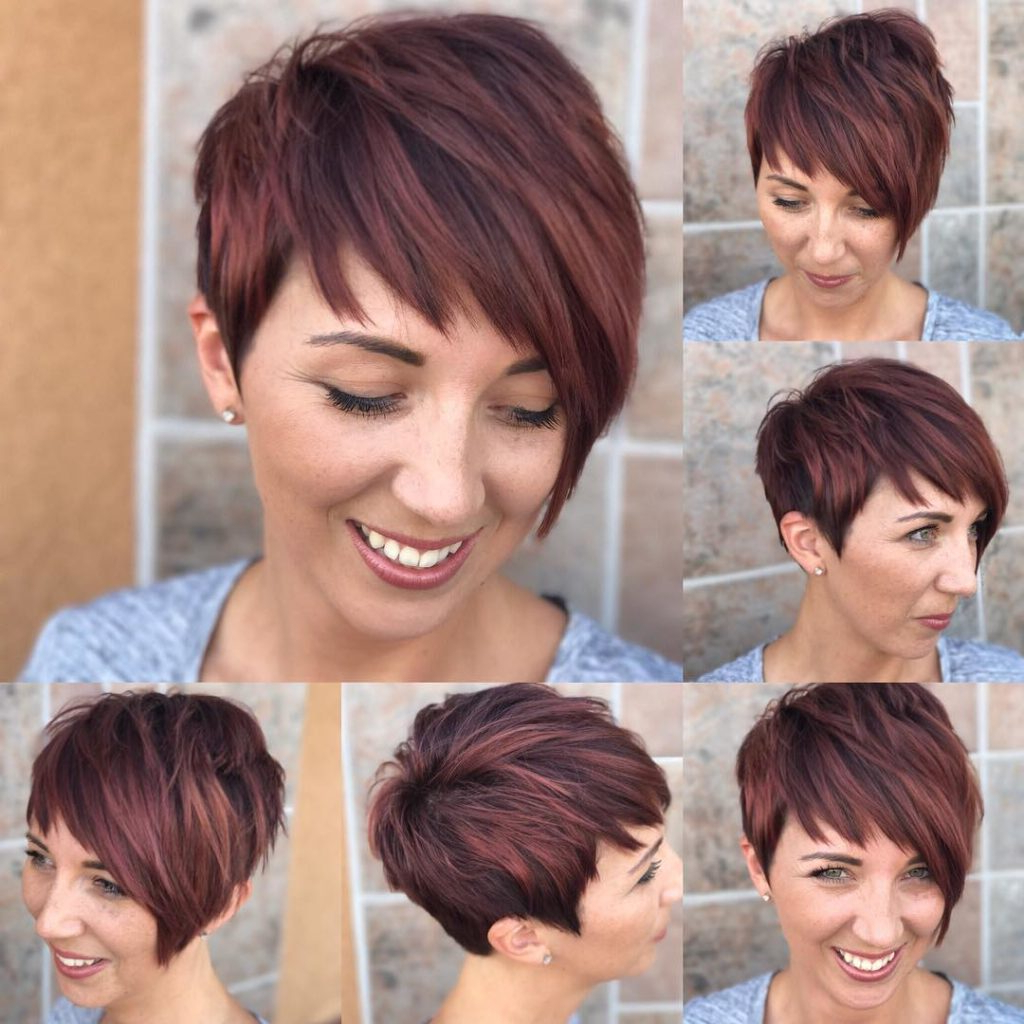 Women's Shaggy Asymmetrical Pixie With Asymmetrical Bangs On With Highlighted Pixie Bob Hairstyles With Long Bangs (View 14 of 20)