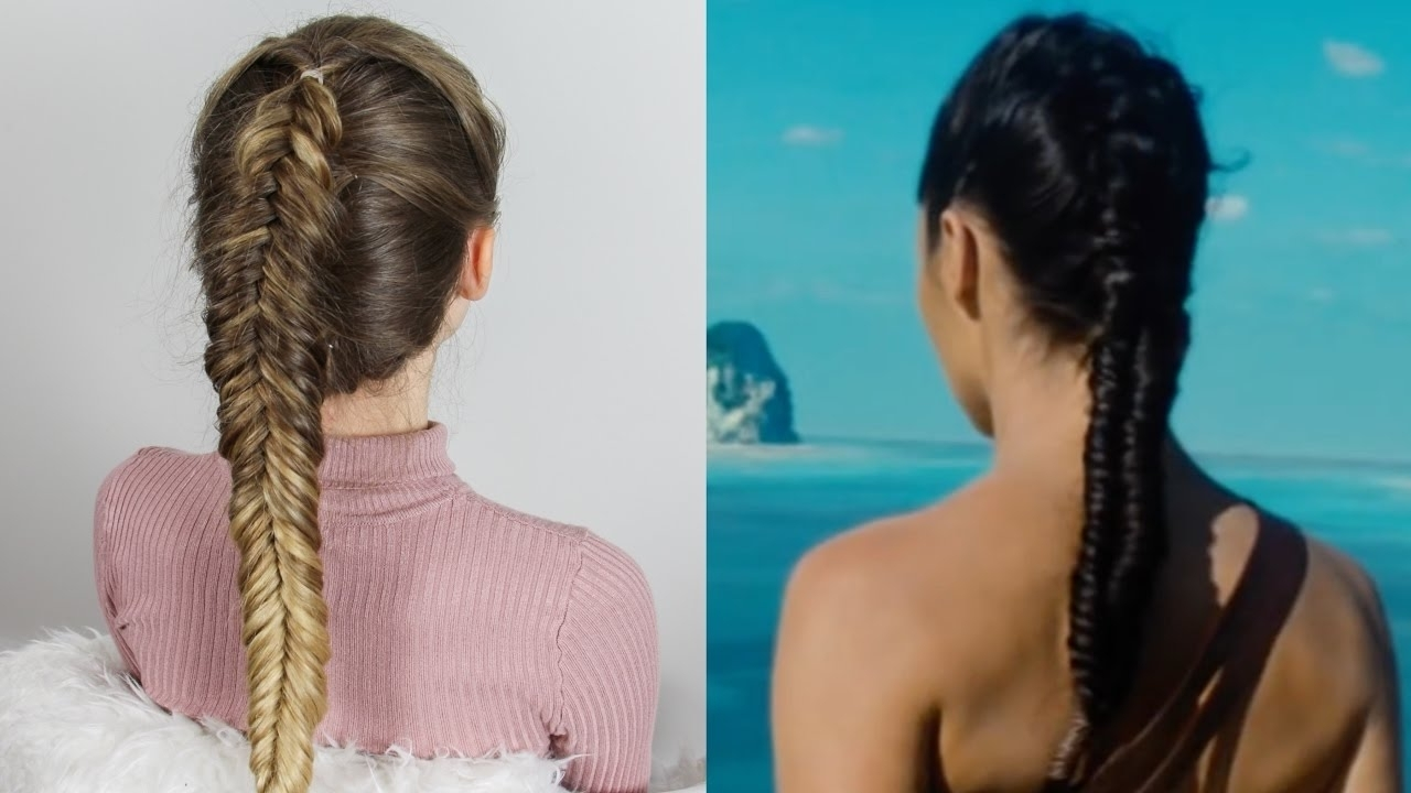 Wonder Woman Inspired Hair – Dutch Fishtail Braid – Youtube Inside Most Up To Date Beach Friendly Braided Ponytails (View 15 of 20)