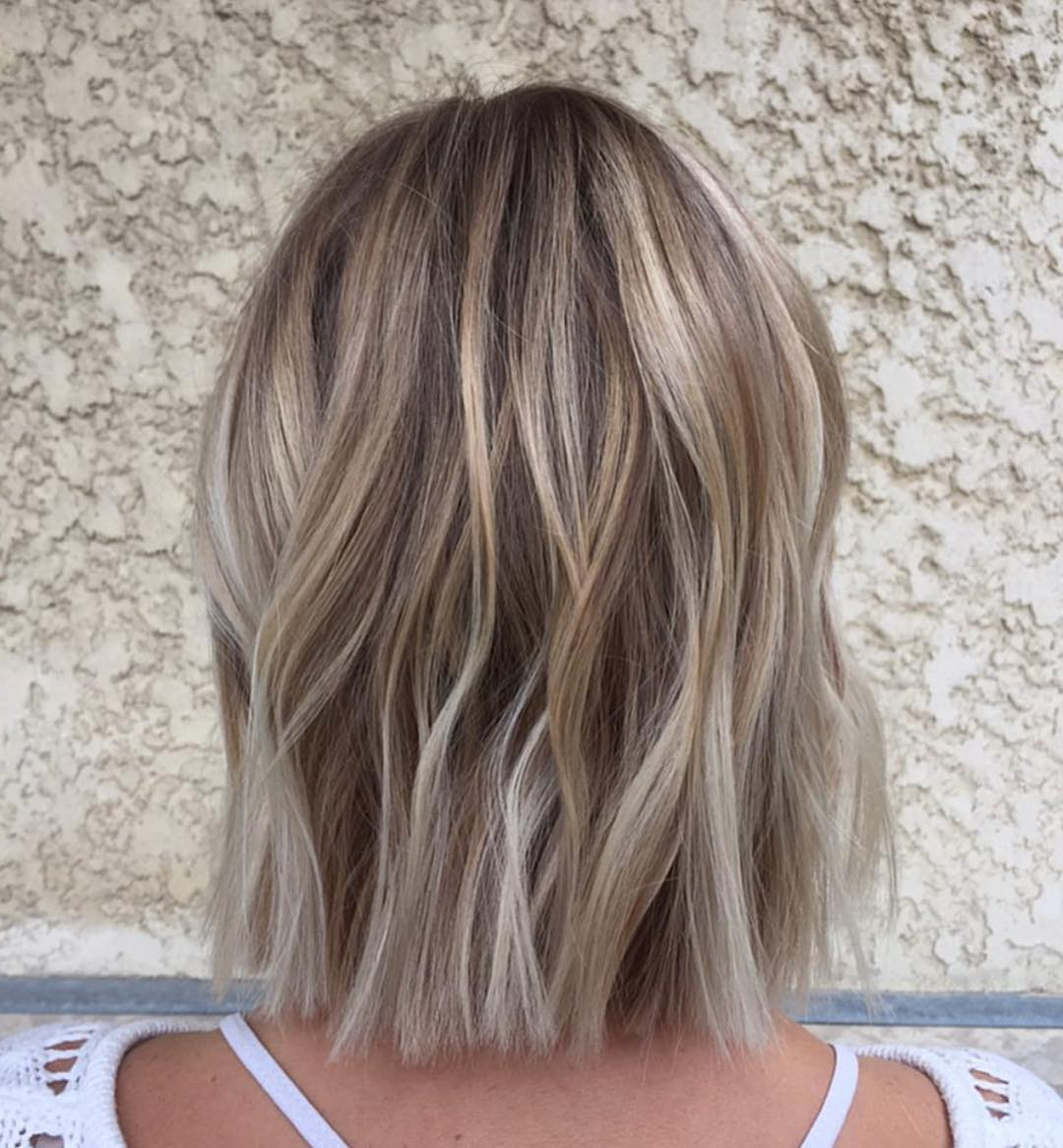 10 Balayage Ombre Hair Styles For Shoulder Length Hair, Women Pertaining To One Length Balayage Bob Hairstyles With Bangs (View 2 of 20)