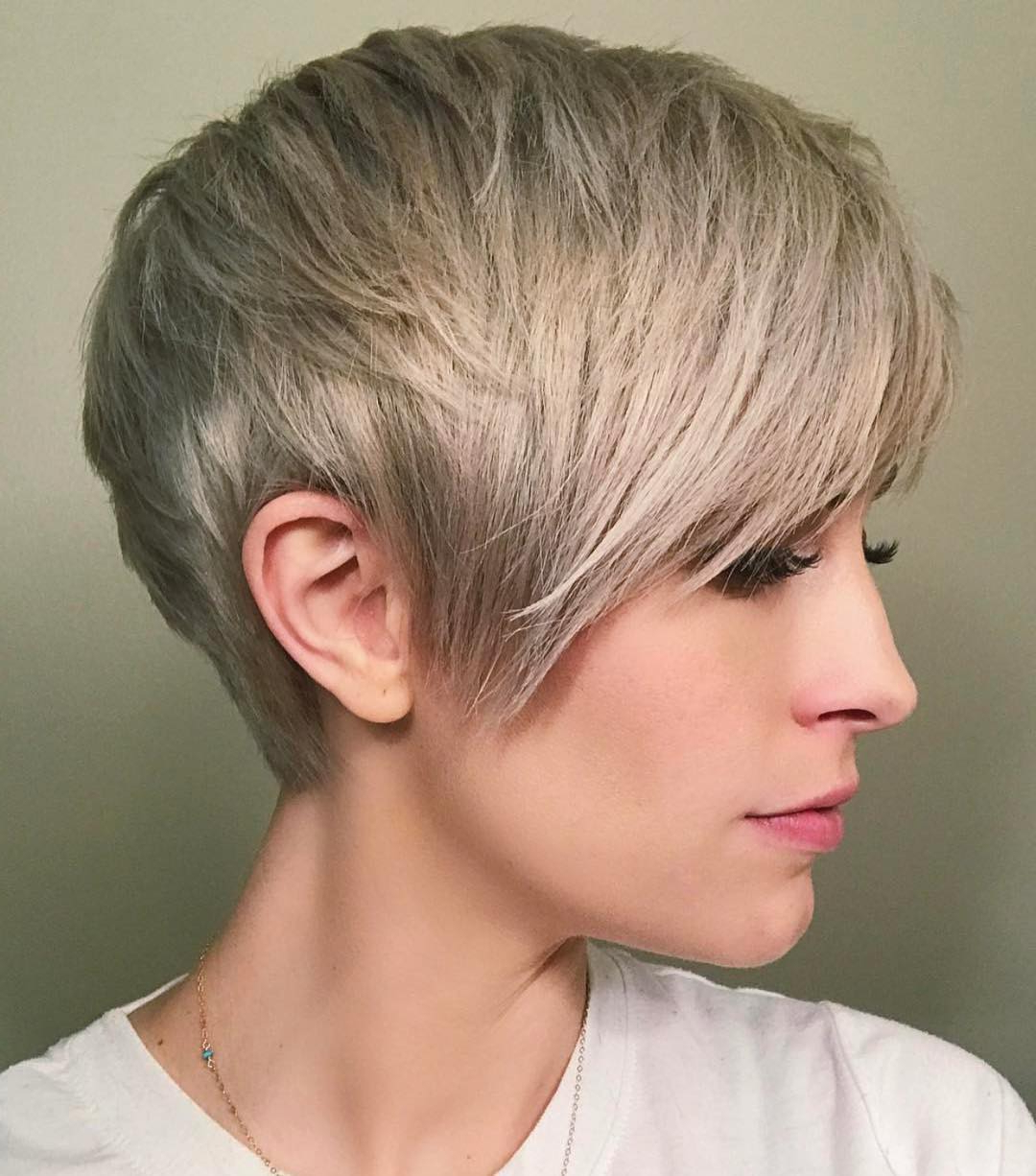 10 Best Short Straight Hairstyle Trends 2019 Pertaining To Long Ash Blonde Pixie Hairstyles For Fine Hair (View 16 of 20)