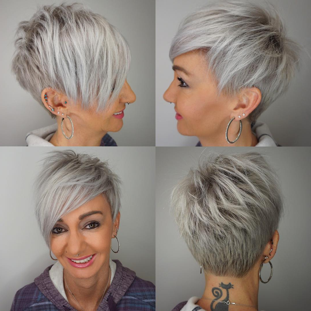 10 Edgy Pixie Haircuts For Women, Best Short Hairstyles 2019 For Tapered Gray Pixie Hairstyles With Textured Crown (View 3 of 20)