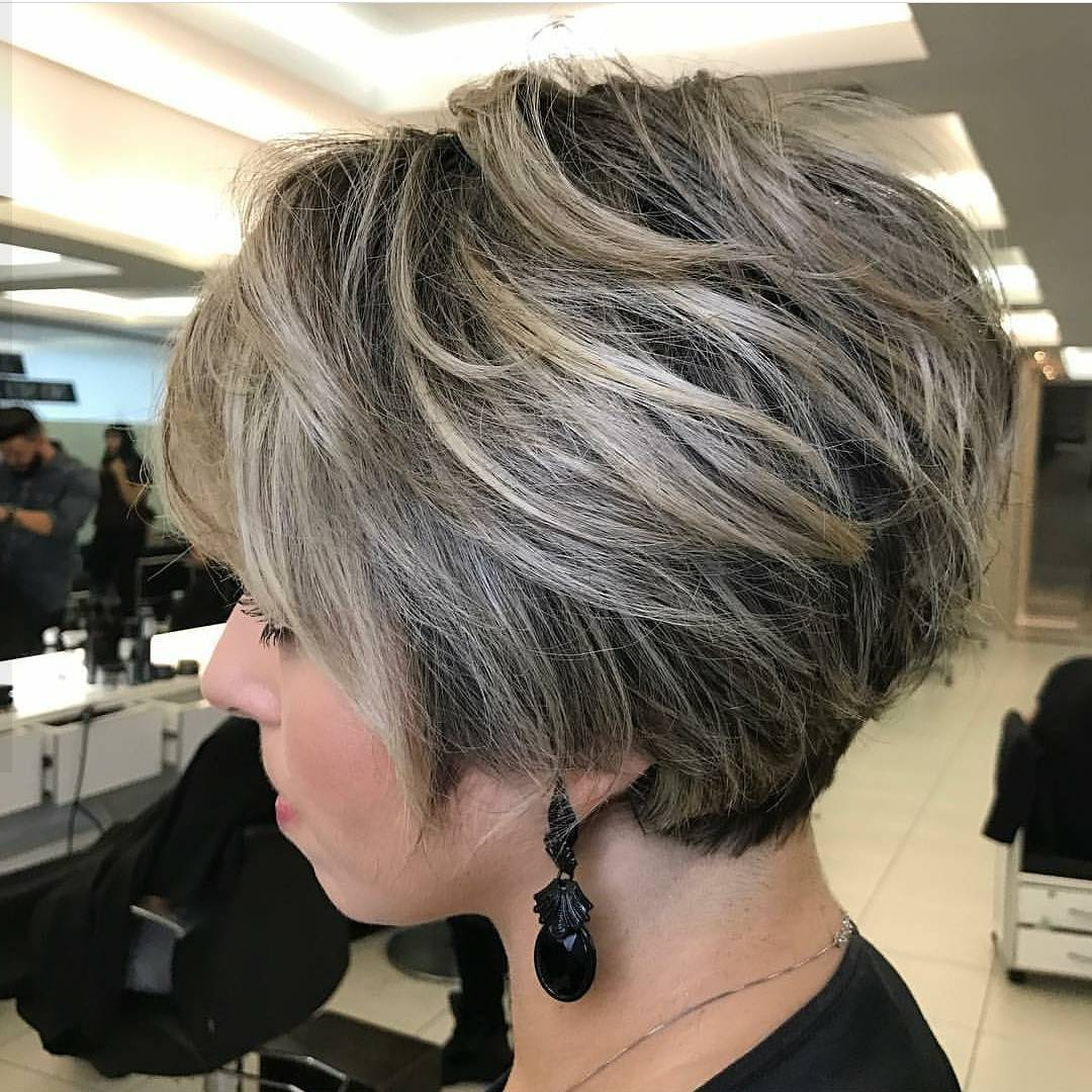 10 Messy Hairstyles For Short Hair – Quick Chic! Women Short Haircut For Short Ruffled Hairstyles With Blonde Highlights (View 2 of 20)