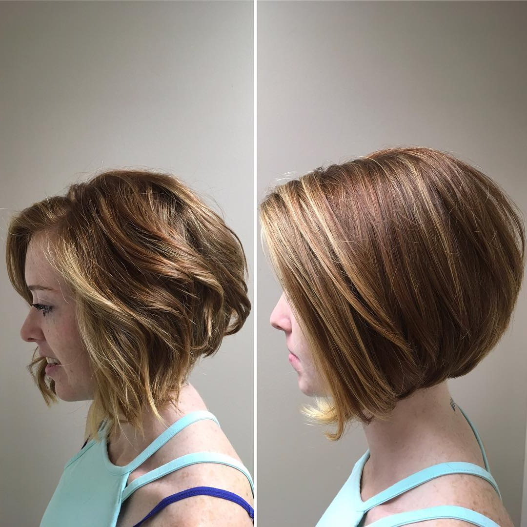 10 Modern Bob Haircuts For Well Groomed Women: Short Hairstyles 2019 Pertaining To Honey Blonde Layered Bob Hairstyles With Short Back (View 2 of 20)