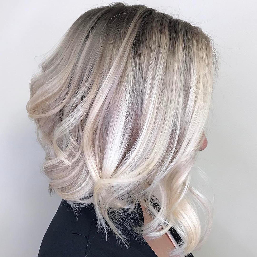 10 Ombre Balayage Hairstyles For Medium Length Hair, Hair Color 2019 With Angled Ash Blonde Haircuts (View 4 of 20)