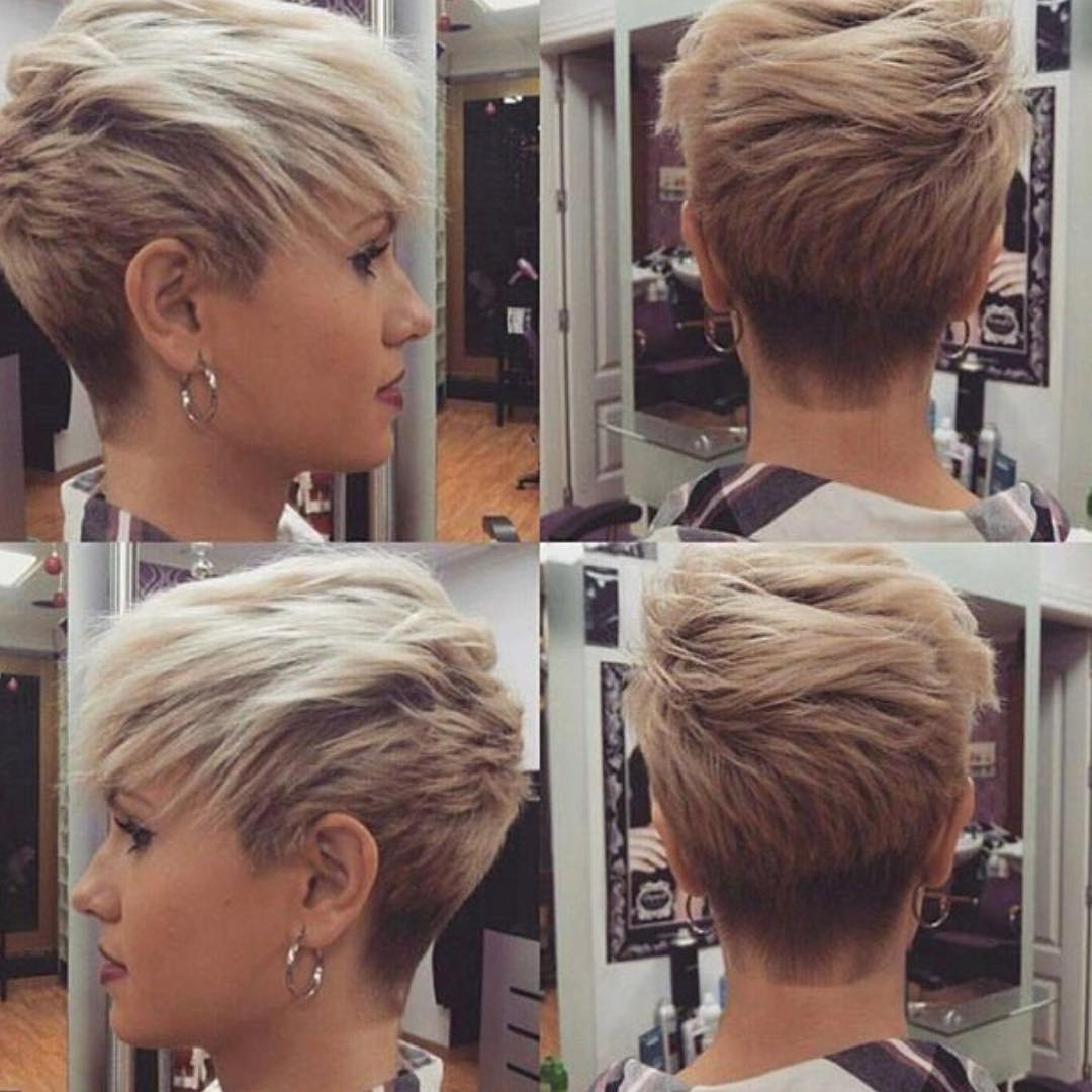 10 Short Haircuts For Fine Hair 2019: Great Looks From Office To Beach! Throughout Tapered Gray Pixie Hairstyles With Textured Crown (View 11 of 20)