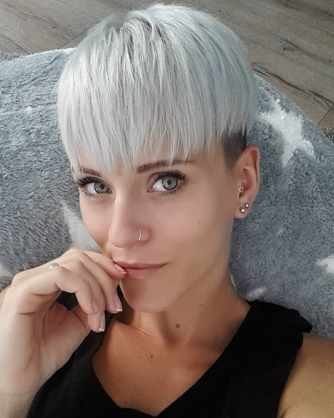 Photo Gallery Of Two Tone Spiky Short Haircuts Viewing 18 Of 20 Photos