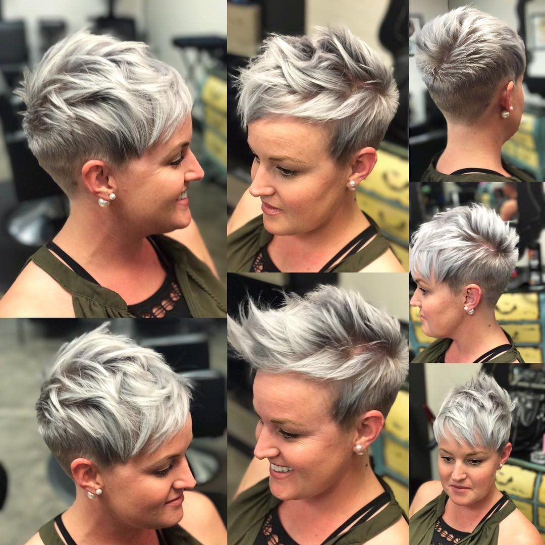 10 Short Hairstyles For Women Over 40 – Pixie Haircuts 2019 With Gray Pixie Hairstyles For Over (View 15 of 20)