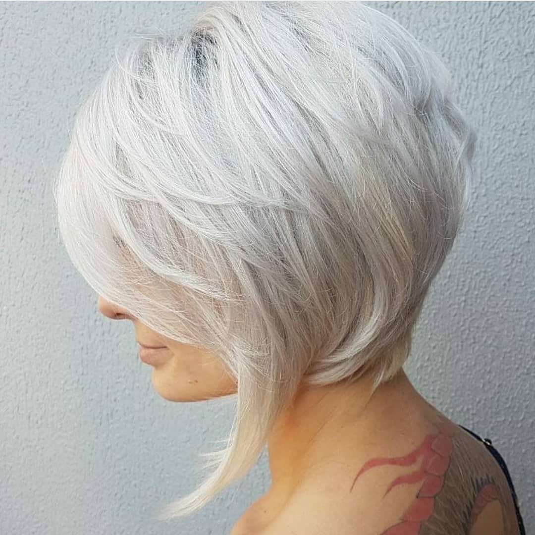 10 Stylish Medium Bob Haircuts For Women – Easy Care Chic Bob Hair 2019 Throughout Gray Bob Hairstyles With Delicate Layers (View 5 of 20)