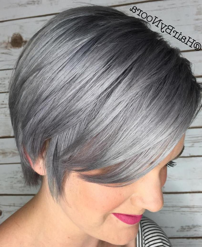 100 Mind Blowing Short Hairstyles For Fine Hair In 2018 | Hair In Silver Pixie Hairstyles For Fine Hair (View 2 of 20)