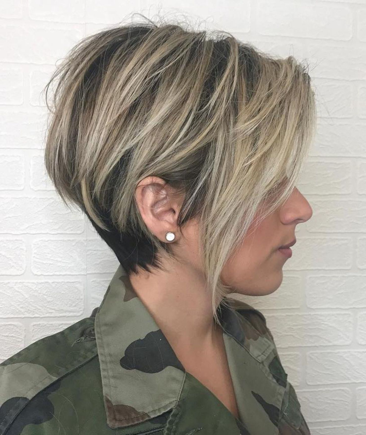 100 Mind Blowing Short Hairstyles For Fine Hair In 2018 | Hairstyle Pertaining To Short Ruffled Hairstyles With Blonde Highlights (View 6 of 20)