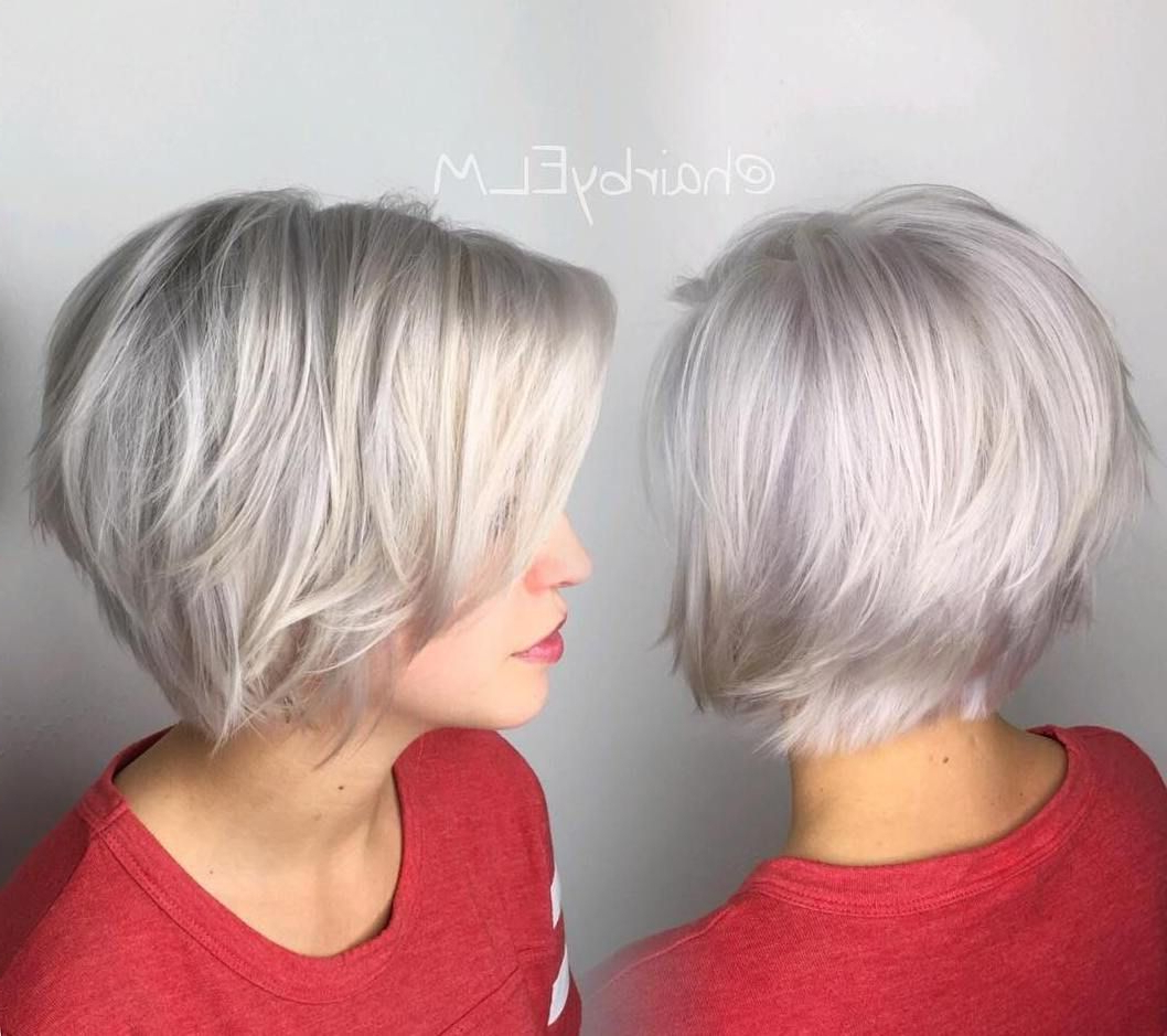 100 Mind Blowing Short Hairstyles For Fine Hair | Layered Bobs, Bobs Throughout Layered Bob Hairstyles For Fine Hair (View 1 of 20)