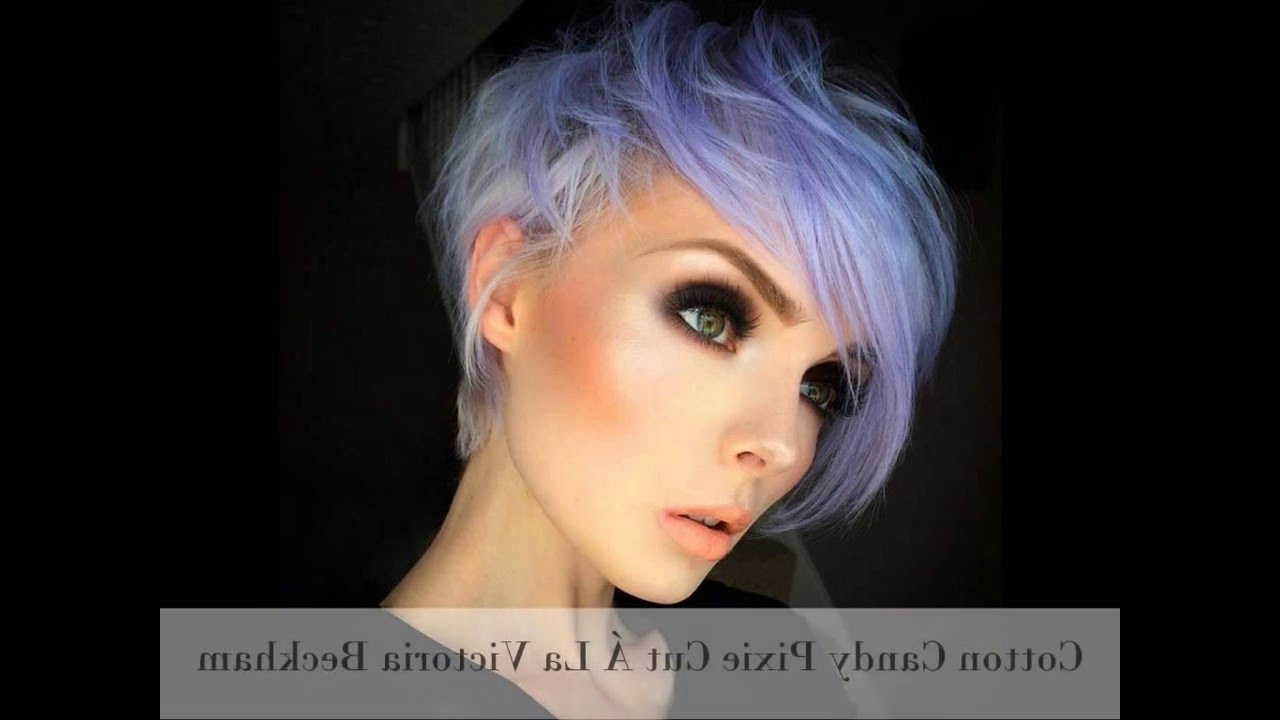 15 Short Hairstyles For Women Pixie, Bob, Undercut Hair – Youtube With Asymmetrical Silver Pixie Hairstyles (View 4 of 20)