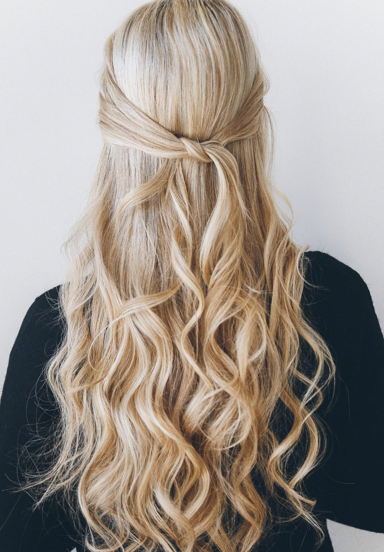 16 Gorgeous Wedding Hairstyles That'll Complete Your Look | Half Up With Regard To Gorgeous Feathered Look Hairstyles (View 3 of 20)
