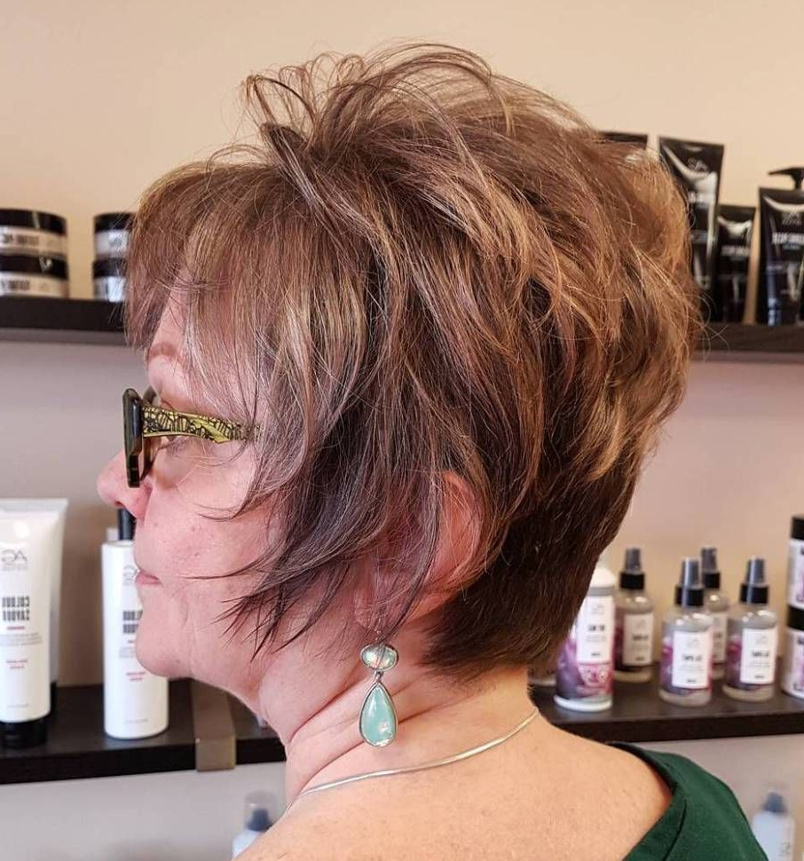 20 Universally Flattering Hairstyles For Women Over 50 With Glasses With Youthful Pixie Haircuts (View 5 of 20)